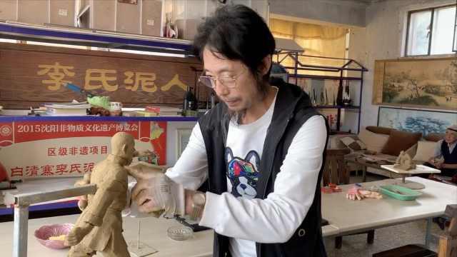 大叔传承母亲手艺捏泥人,40余年捏上万个:再现东北乡俗文化