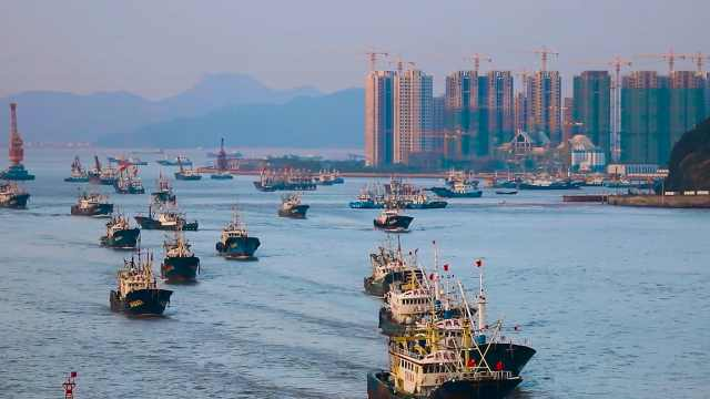 目标东海,扬帆起航!9月17日早上6点,普陀渔船全面解禁