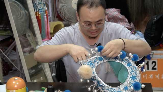 90后研究生痴迷制作川剧盔帽:在四川能做的不超5人