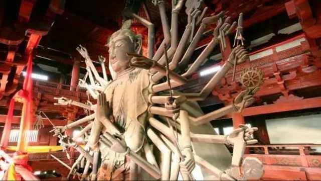 河北有座千手观音铜像,为何40只手却是木质的,有何秘密?