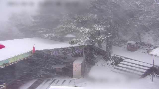 河南迎入秋第一场雪!洛阳白云山银装素裹