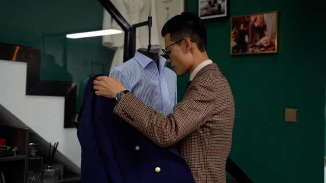 95后小伙毕业踩缝纫机卖西装:曾因西装肥大不自信致考试失常