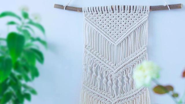 教你手工编织精美波西米亚风挂毯
