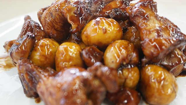 板栗炖鸡,秋风送来的美味