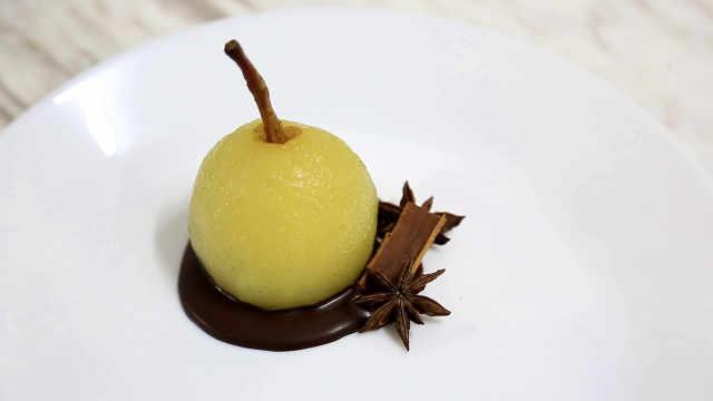 糖水洋梨,吃熟不吃生