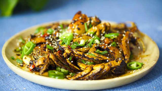 香辣蟹,做法简单,这样做绝对好吃