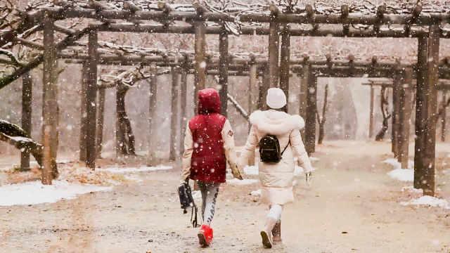 最浪漫的事,莫过于在雪中漫步