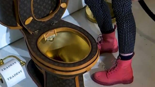 LV+黄金,这么壕的马桶你敢用吗?