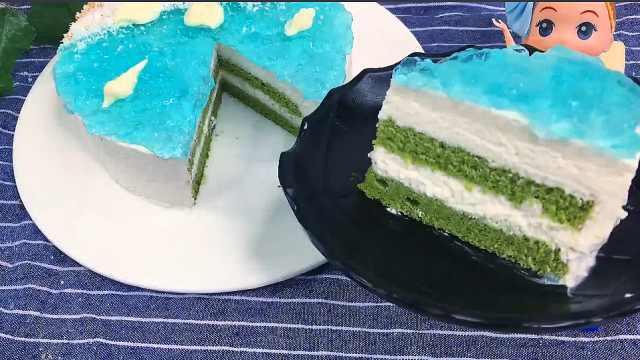 不用烤箱的蛋糕,海洋慕斯蛋糕教程