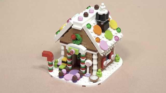 乐高拼搭:圣诞节的姜饼屋