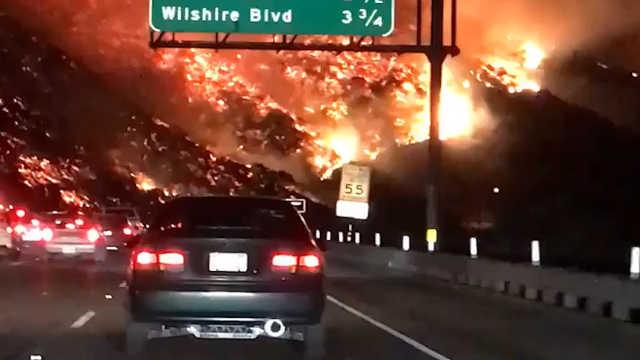 加州南部火灾现场如同人间地狱