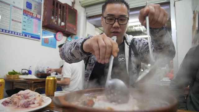 吃鸡肉起片火锅就是一个爽!