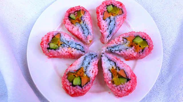 樱花寿司做起来原来这么简单