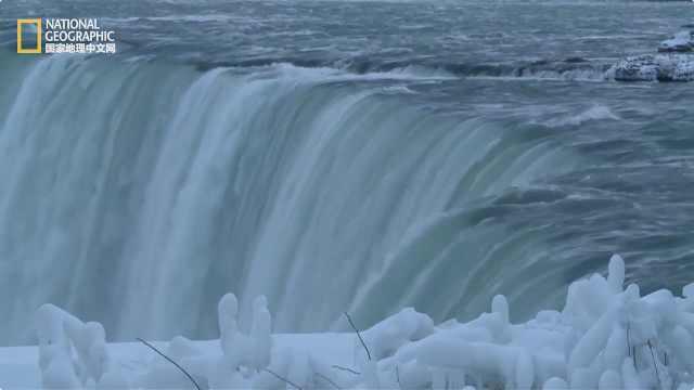 国家地理|当尼亚加拉大瀑布结冰...