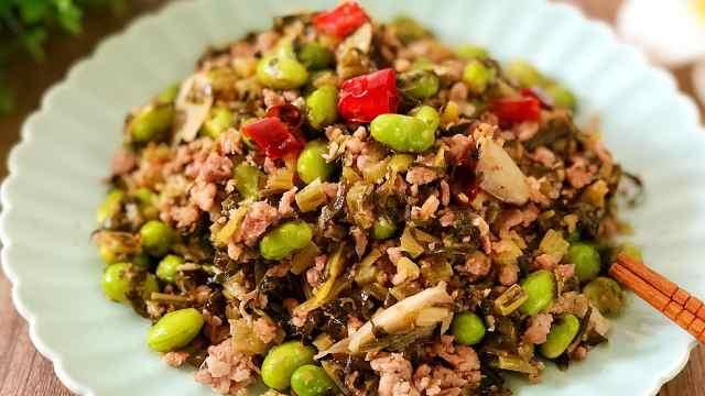 下饭一流的沪上本帮菜——雪菜毛豆