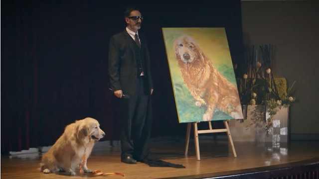 一只导盲犬,让盲人画家画出了经典