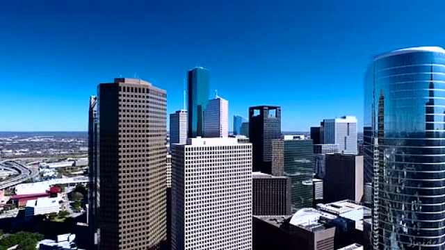 无人机航拍德克萨斯州休斯顿