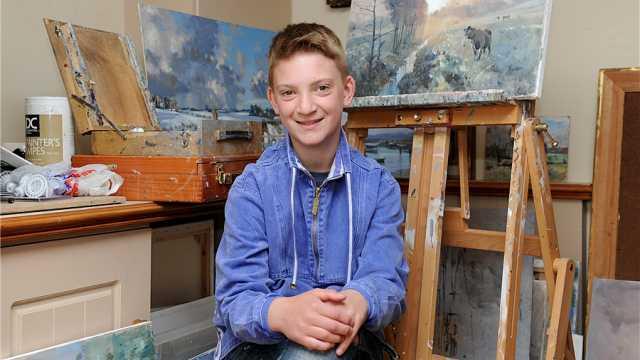 英国小画家,10岁挣下千万家产