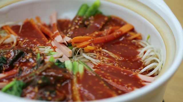 韩式拌饭,教你一招没有石锅的拌饭
