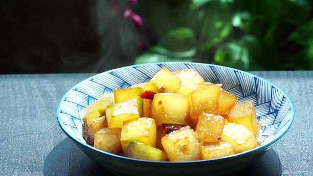 红烧冬瓜做法简单,好吃还不长肉
