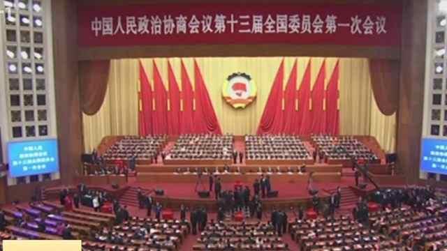 政协十三届全国委员会选出领导人