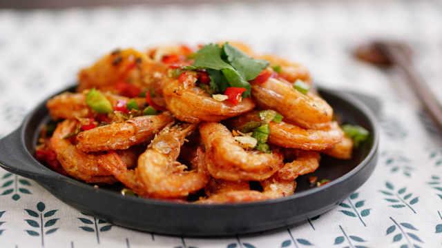 椒盐虾,好吃到连虾壳都要一起吃掉