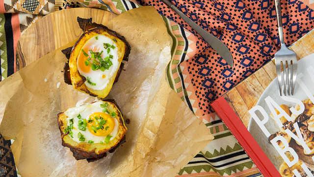 美味早餐新吃法,火山土豆早餐!