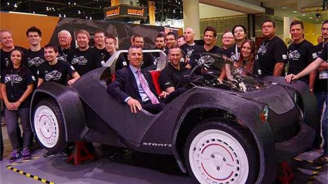 谁说3D打印不能造车?全车碳纤维