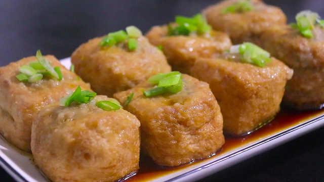 油豆腐塞肉,解锁美味新吃法