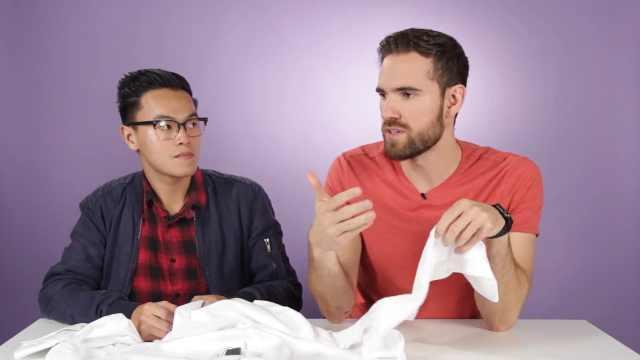 男士猜白衬衫价格,差价居然这么大