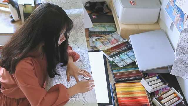 90后美女大学老师创作插画惊艳世界