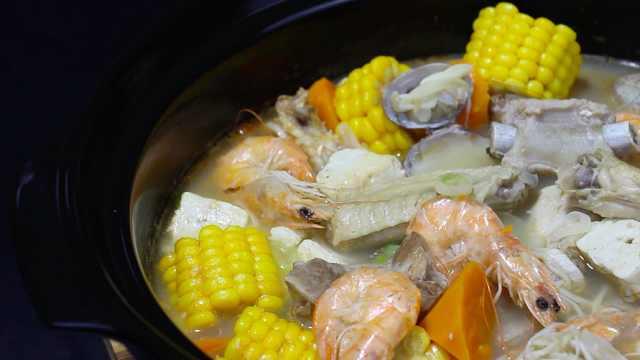 八鲜过海汤,听说喝完能成仙?