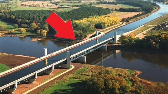 德国创意水桥,桥上桥下都是河