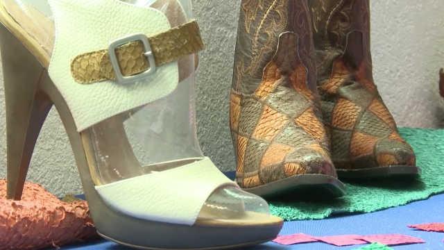 潮流新时尚鱼皮鞋,环保个性还防水