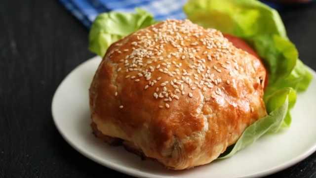 自制美味的培根汉堡,不一样的汉堡