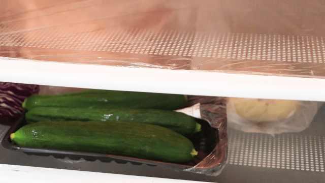 把保鲜膜这样放冰箱,解决大麻烦