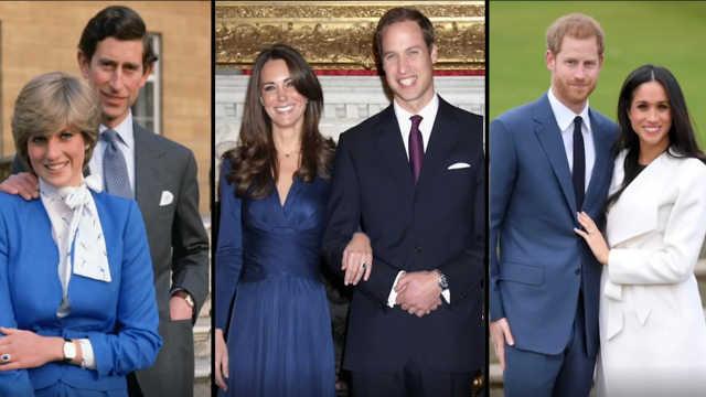 英国皇室三届婚礼对比:相似又不同