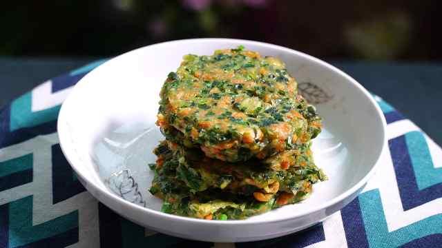 韭菜虾皮做成饼,太好吃了!