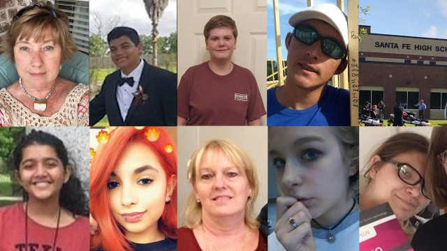 美国得州圣塔菲高中枪击案遇难者