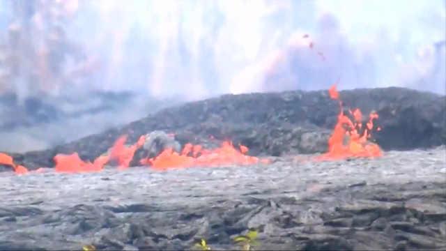 夏威夷岩浆与海水混合产生熔岩雾霾