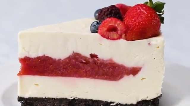2分钟教会你怎么做樱桃奶酪蛋糕