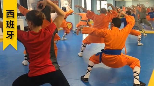 西班牙人学中国武术,教练是老外