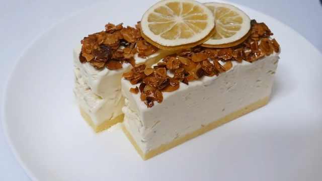 不用烘焙的柠檬杏仁芝士蛋糕