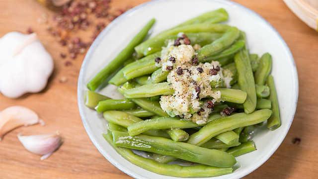 蒜香四季豆,简单美味更下饭!