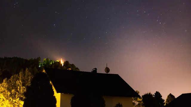 静谧的夜空与温柔闪耀的星星
