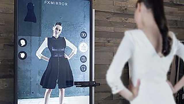 虚拟试衣镜,试衣只需两秒钟