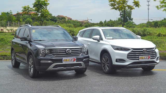中国7座SUV最重磅对比 唐VS传祺GS8