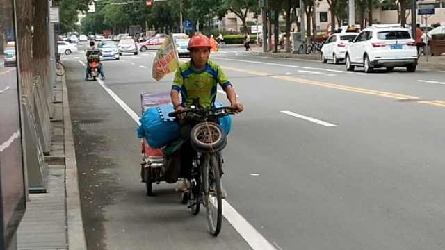 小伙两度单车骑行游全国:宣传环保