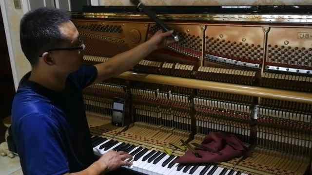 音乐届PS!看钢琴调音师怎样调音调