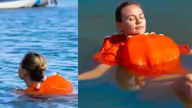 太有创意!网红用塑料瓶自制救生衣